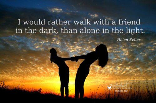friendship walk with a friend